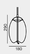 Brokis Knot Small Uovo rauchgrau Grafik