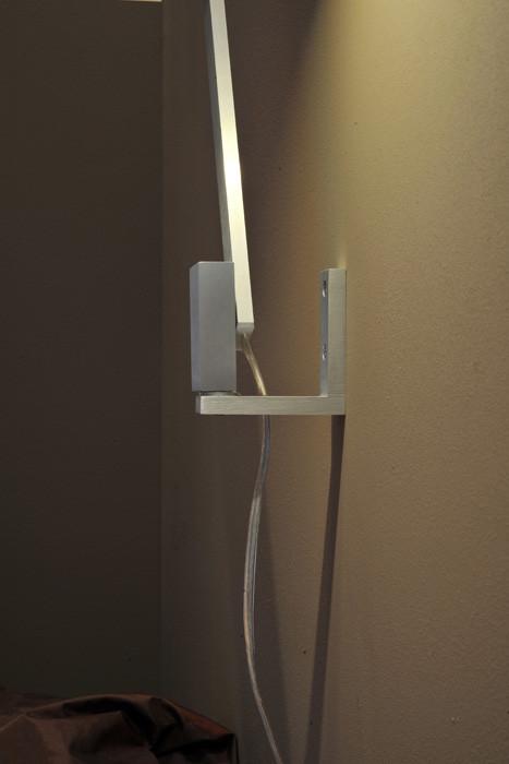 Byok Nastrino Wandleuchte Wandhalterung Aluminium matt