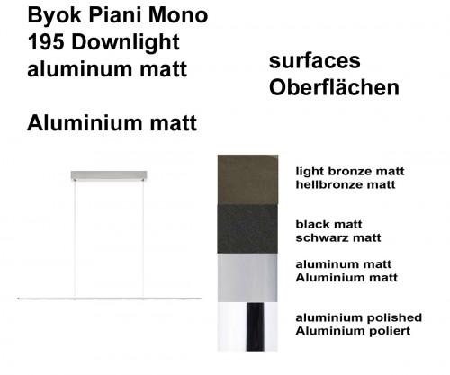 Byok Piani Mono 195 Downlight Oberflächen