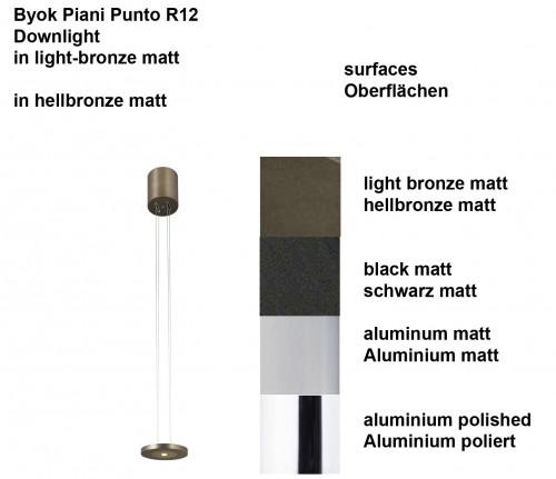 Byok Piani Punto R12 Downlight Oberflächen