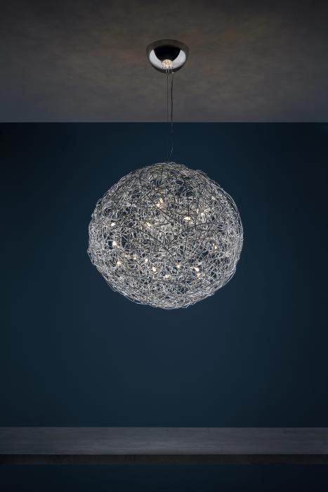 Catellani and Smith Fil de Fer Pendant LED 70 Aluminium natur