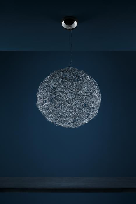 Catellani and Smith Fil de Fer Pendant LED 50 Aluminium natur