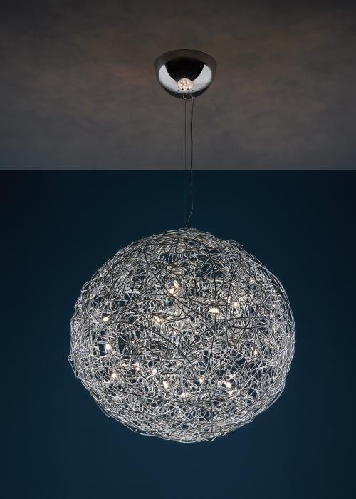 Catellani and Smith Fil de Fer Pendant LED 100 Aluminium natur