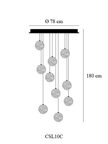 Catellani & Smith Sweet Light Chandelier 10 Leuchten Grafik