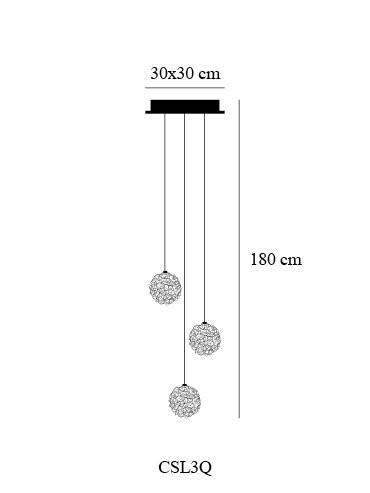 Catellani & Smith Sweet Light Chandelier 3 Leuchten Grafik