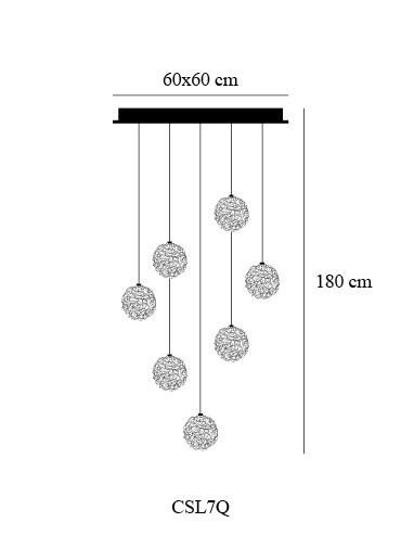 Catellani & Smith Sweet Light Chandelier 7 Leuchten Grafik