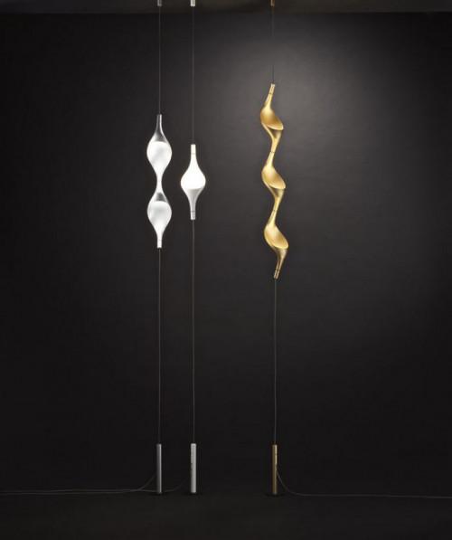 Cini & Nils Acqua Filo 3 Leuchten gold Uplight (auf der rechten Seite)