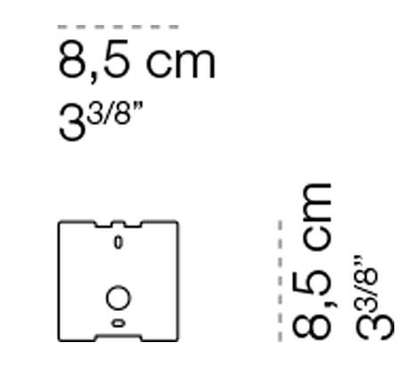 Cini & Nils Assolo Wand- und Deckenleuchte Abdeckplatte für den Stromanschluss