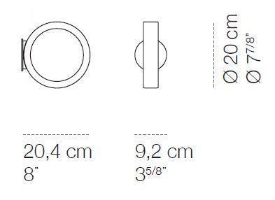 Cini & Nils Assolo Wand- und Deckenleuchte Grafik mit runder Wandplatte (erhältlich auf Anfrage)