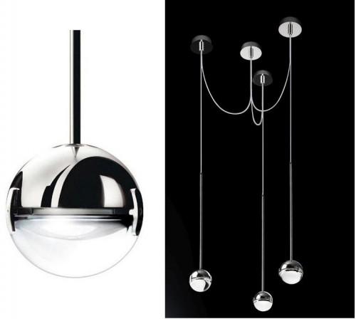 Cini & Nils Convivio Pendelleuchte 3-flammig LED Chrom