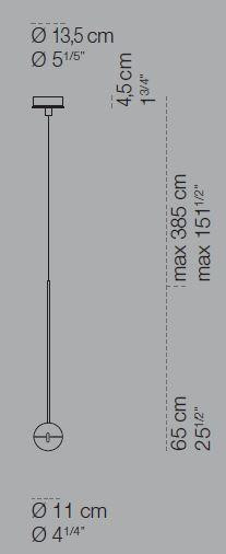 Cini & Nils Convivio Pendelleuchte LED Grafik