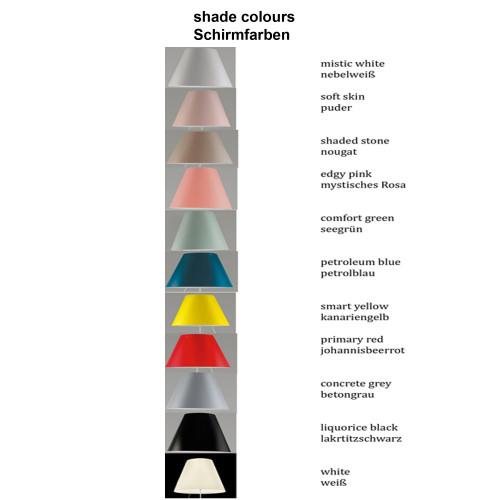 Luceplan Costanzina Tischleuchte Befestigungsstift Schirmfarben