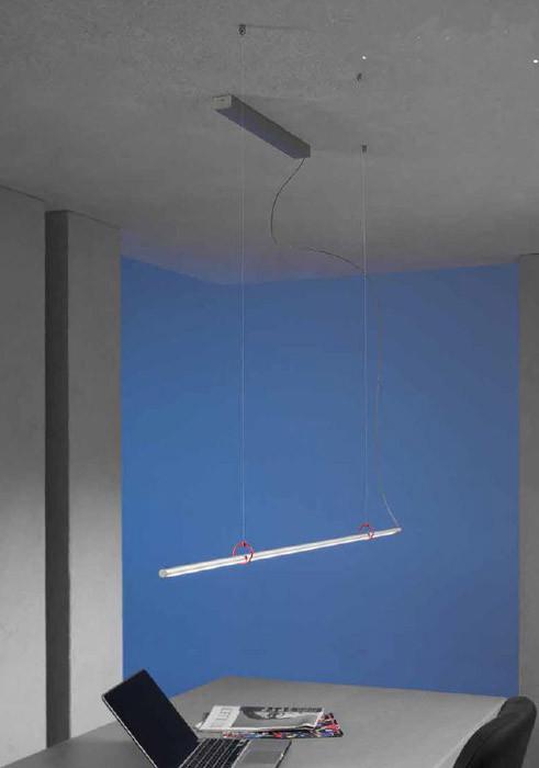 Escale Slimline Pendelleuchte 120 cm mit roten Clips