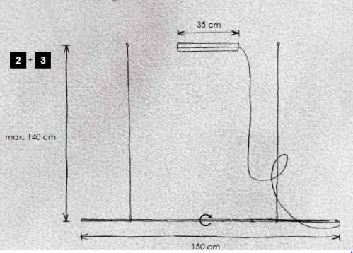 Escale Slimline Pendelleuchte 150 cm Grafik