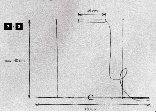 Escale Slimline Pendelleuchte 150 vario Grafik