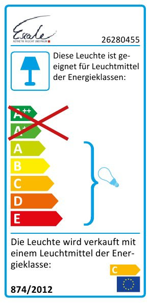 Escale Pages Wand-/Deckenleuchte EU Energieausweis