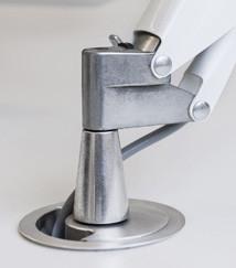 Luceplan Fortebraccio Tisch- und Wandleuchte Befestigungsstift Einbauleuchte weiß