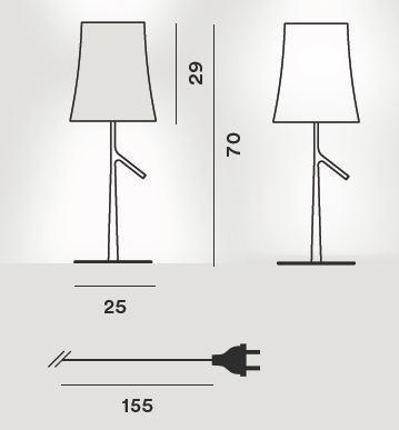 Foscarini Birdie LED Grande Tavolo Grafik