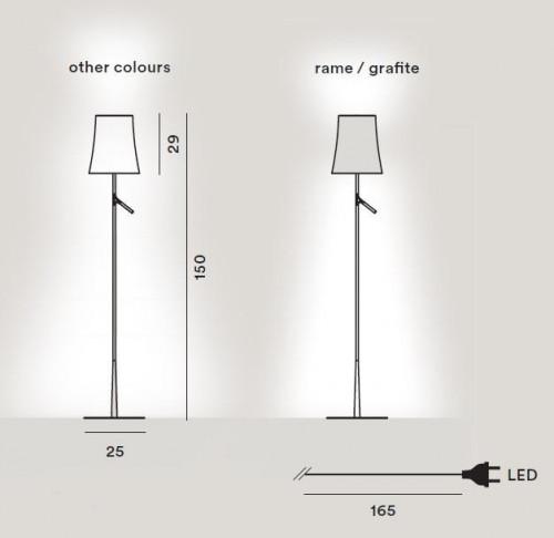 Foscarini Birdie LED Lettura Grafik