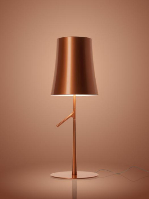 Foscarini Birdie LED Piccola Tavolo Kupfer