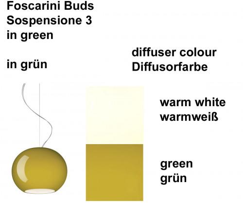 Foscarini Buds Sospensione 3 Farben
