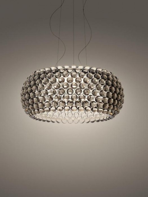 Foscarini Caboche Plus Sospensione Grande LED grau