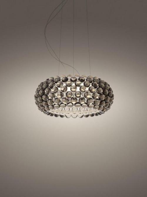 Foscarini Caboche Plus Sospensione Media LED grau