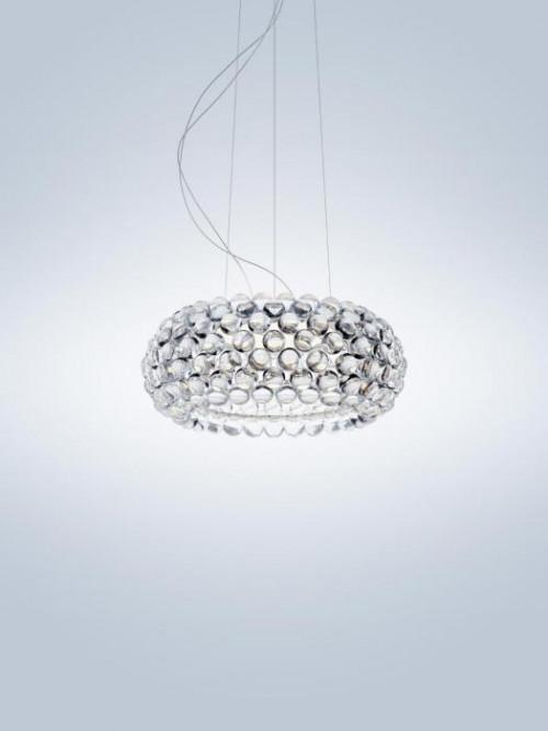 Foscarini Caboche Plus Sospensione Media LED transparent