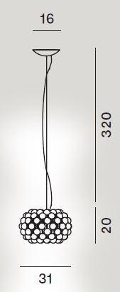 Foscarini Caboche Plus Sospensione Piccola Grafik