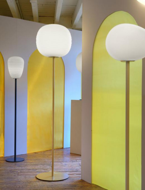 Foscarini Gem Terra gold (in der Mitte)
