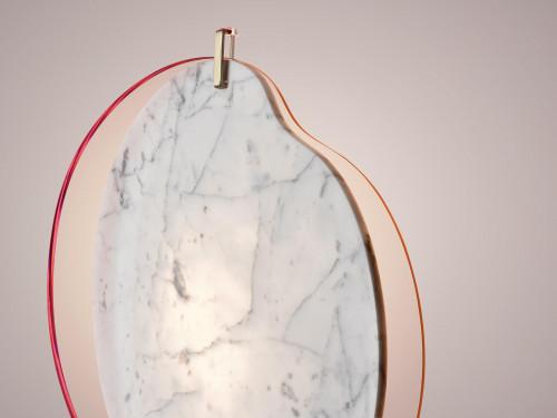 Foscarini Gioia Grande pink mit Marmorelement