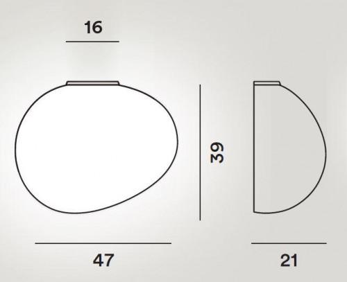 Foscarini Gregg Parete Grande Semi 2 Grafik