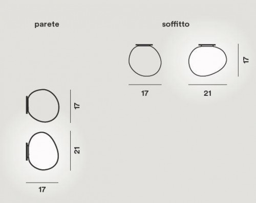 Foscarini Gregg Soffitto Parete Midi Grafik