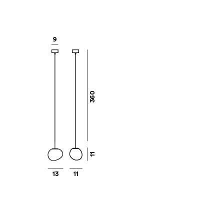 Foscarini Gregg Sospensione Piccola Grafik