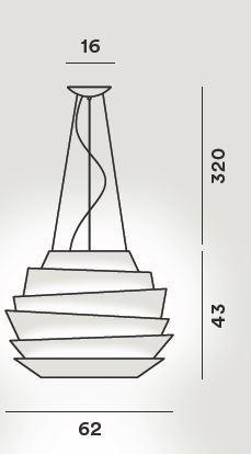 Foscarini Le Soleil Sospensione LED Grafik