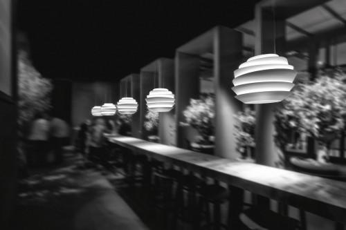 Foscarini Le Soleil Sospensione LED weiß