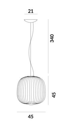 Foscarini Spokes 2 Midi MyLight Grafik