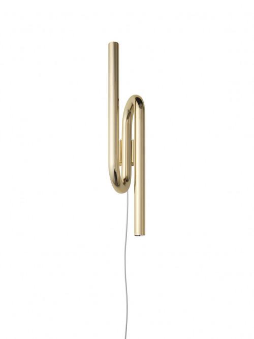 Foscarini Tobia Parete gold mit Steckerzuleitung