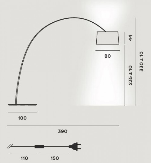 Foscarini Twice as Twiggy Terra Grafik