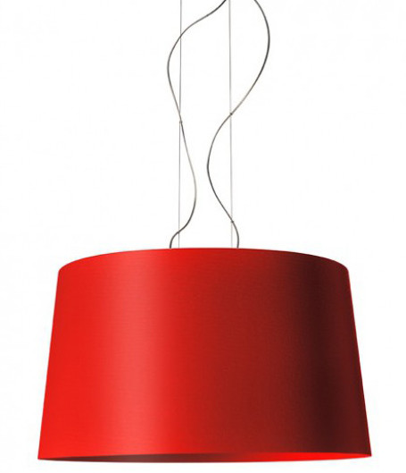 Foscarini Twice as Twiggy Sospensione karmesinrot