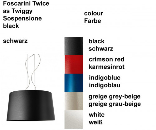 Foscarini Twice as Twiggy Sospensione Farben