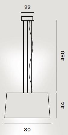 Foscarini Twice as Twiggy Sospensione Grafik