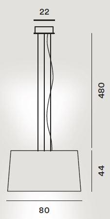 Foscarini Twice as Twiggy Sospensione Ersatzteil