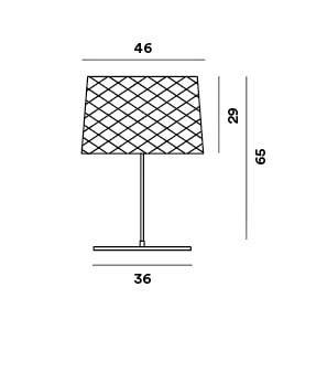 Foscarini Twiggy Grid Outdoor XL Tavolo Grafik