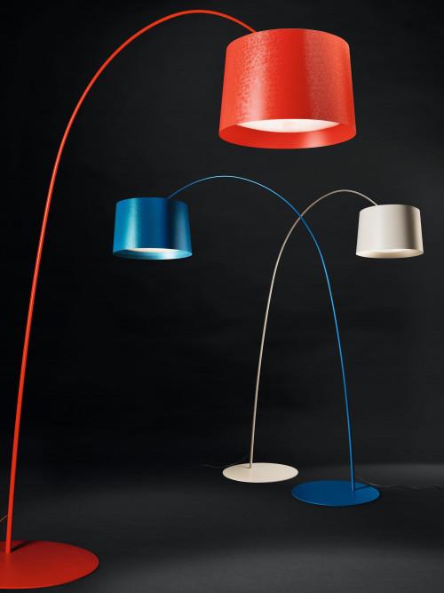 Foscarini Twiggy Terra LED MyLight rot, indigoblau und greige