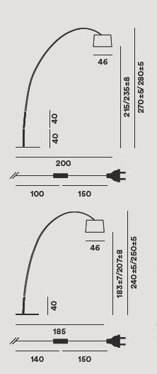 Foscarini Twiggy Terra LED MyLight mit Verlängerungsarmen Grafik