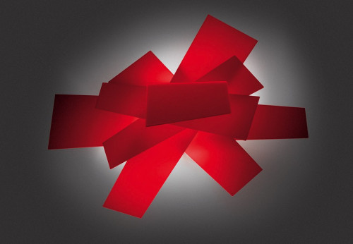 Foscarini Big Bang Parete / Soffitto rot