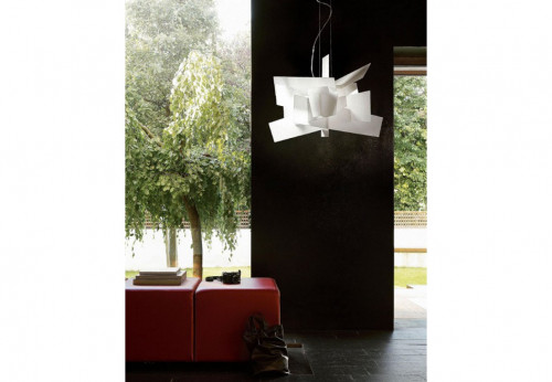 Foscarini Big Bang Sospensione weiß