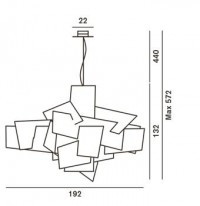 Foscarini Big Bang XL LED Grafik