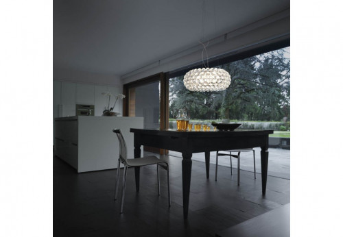 Foscarini Caboche Sospensione Media LED transparent